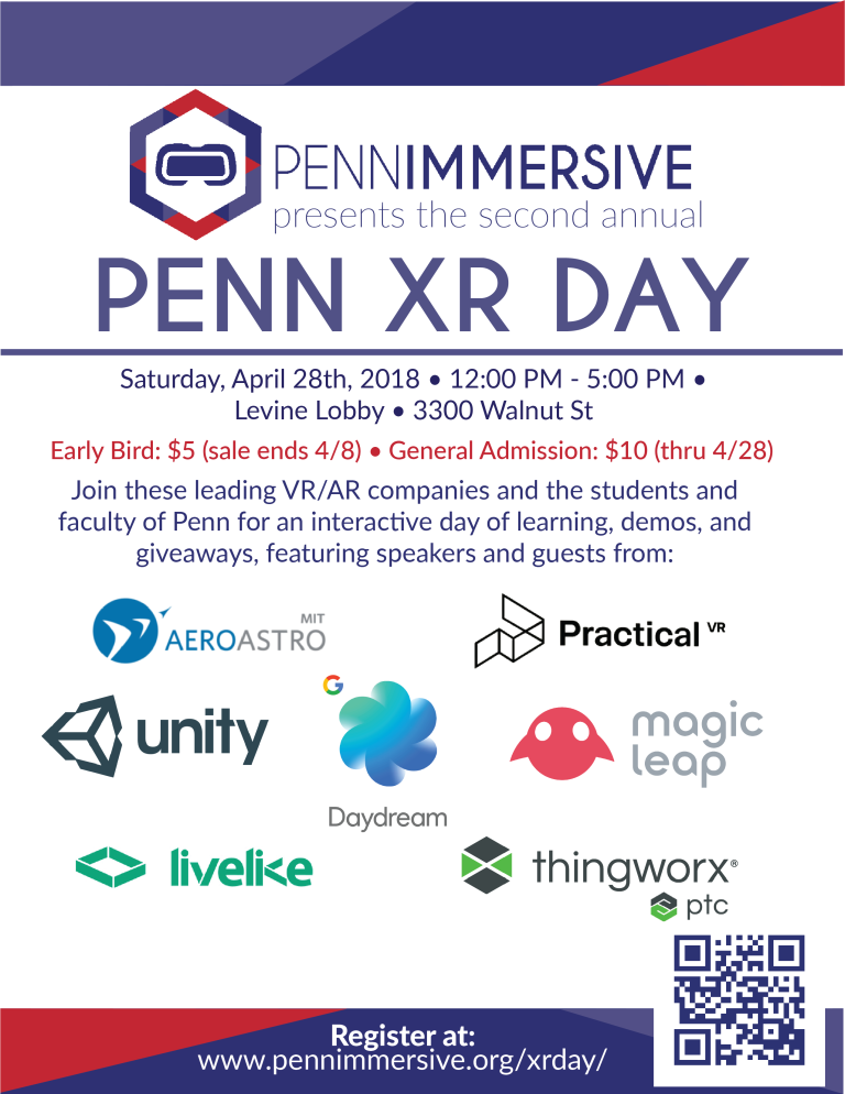 Penn XR Day Is Coming…April 28! – PennImmersive