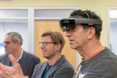 Penn Engineering Alum VR/AR Event at Van Pelt Library, with Penn Immersive.