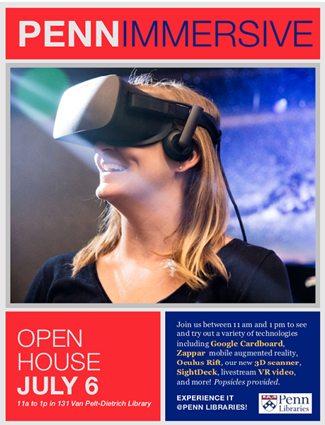 Image of flyer announcing open house