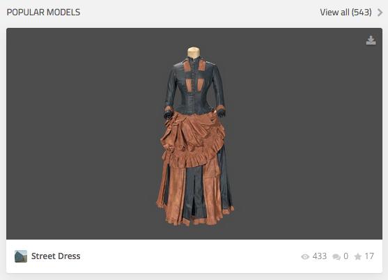 3D model of historical dress