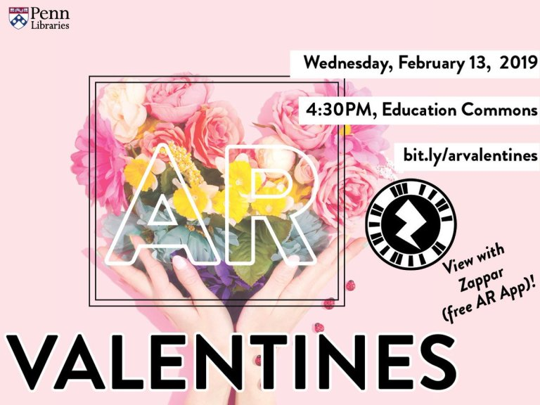 Flyer for augmented reality valentines