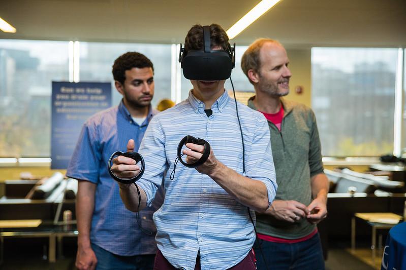Photo of PennImmersive Open House - person using Oculus Rift